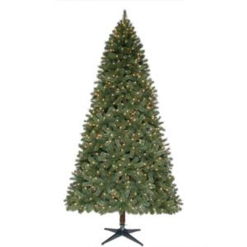 9 ft. Wesley Full Pine Quick Set Christmas Tree with Clear Lights ...